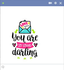 Darling Facebook Sticker