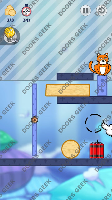 Hello Cats Level 114 Solution, Cheats, Walkthrough 3 Stars for Android and iOS