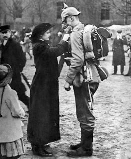 żołnierz niemiecki dziewczyna 1914
