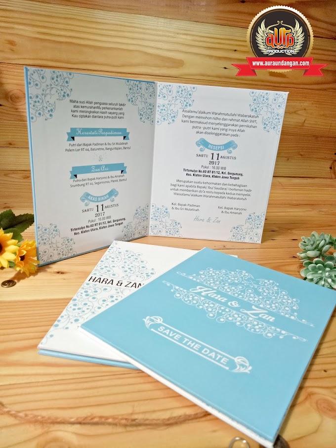 Undangan Pernikahan Hardcover Aura Production Jogja.