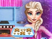 Frozen Elsa Cooking Gingerbread