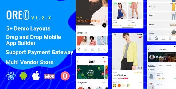 Download Oreo Fashion v1.2.4 - Full React Native App for Woocommerce