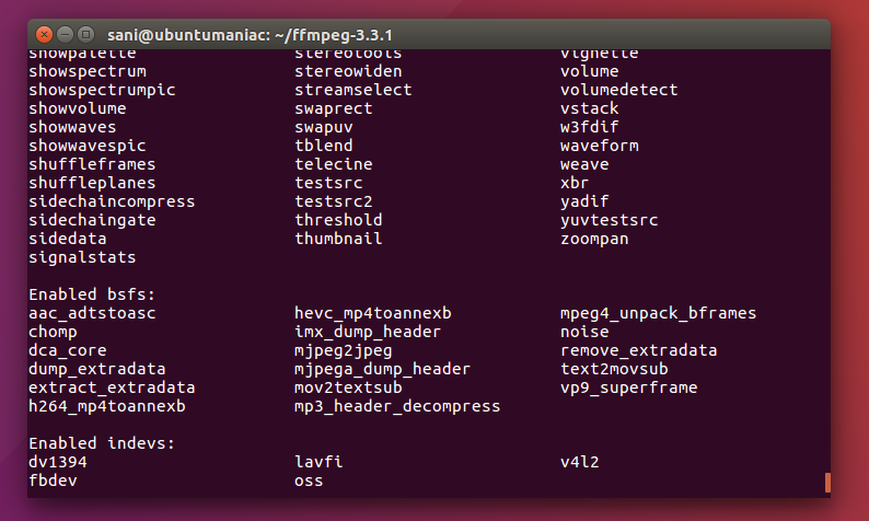 FFmpeg 3 3 1 is Available, Install in Ubuntu / Linux Mint