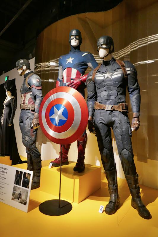 Chris Evans Captain America movie costumes