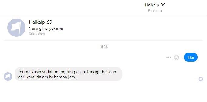 Contoh Balasan Auto-Replay di Fanspage Facebook