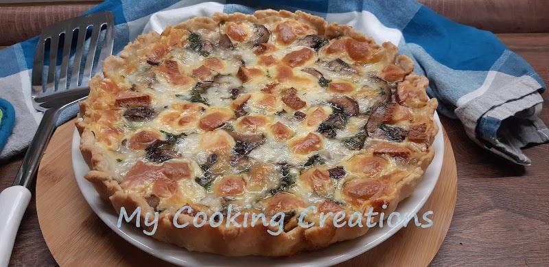 Солен пай с гъби и сирена * Crostata ai funghi e formaggi