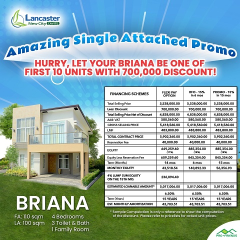 Amazing discounts on Lancaster New City Single Attached Homes