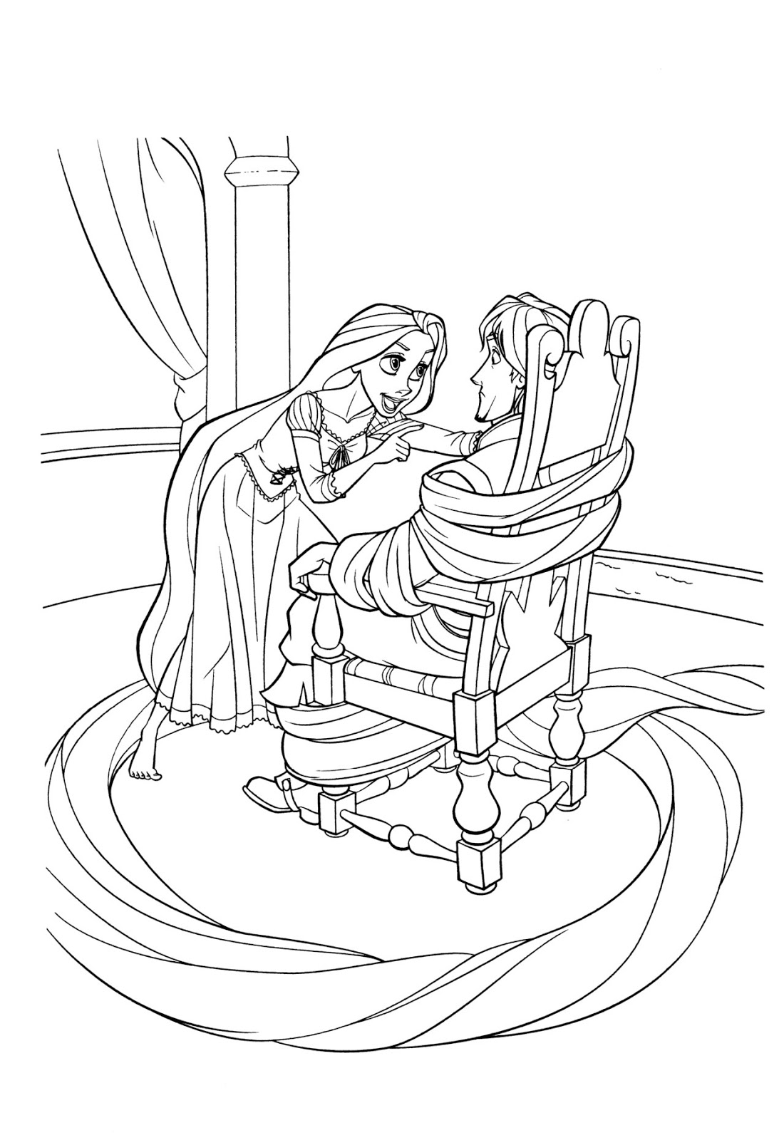 tangled rapunzel coloring pages craetive colouring