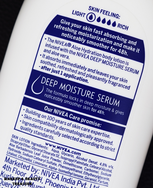 nivea aloe hydration body lotion ingredients