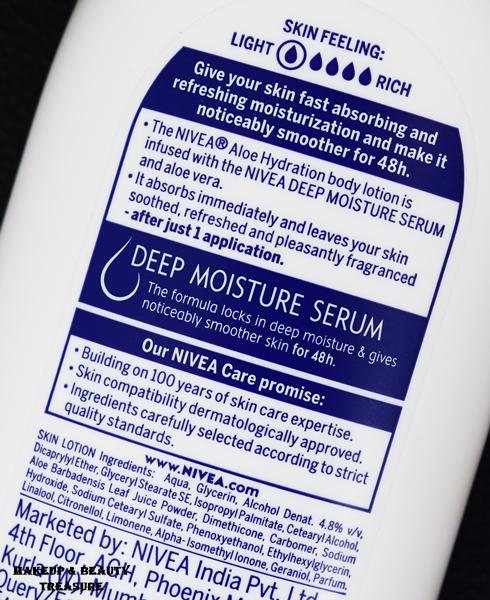 nivea aloe hydration body lotion ingredients