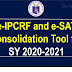 e-IPCRF and e-SAT Consolidation Tool for SY 2020-2021
