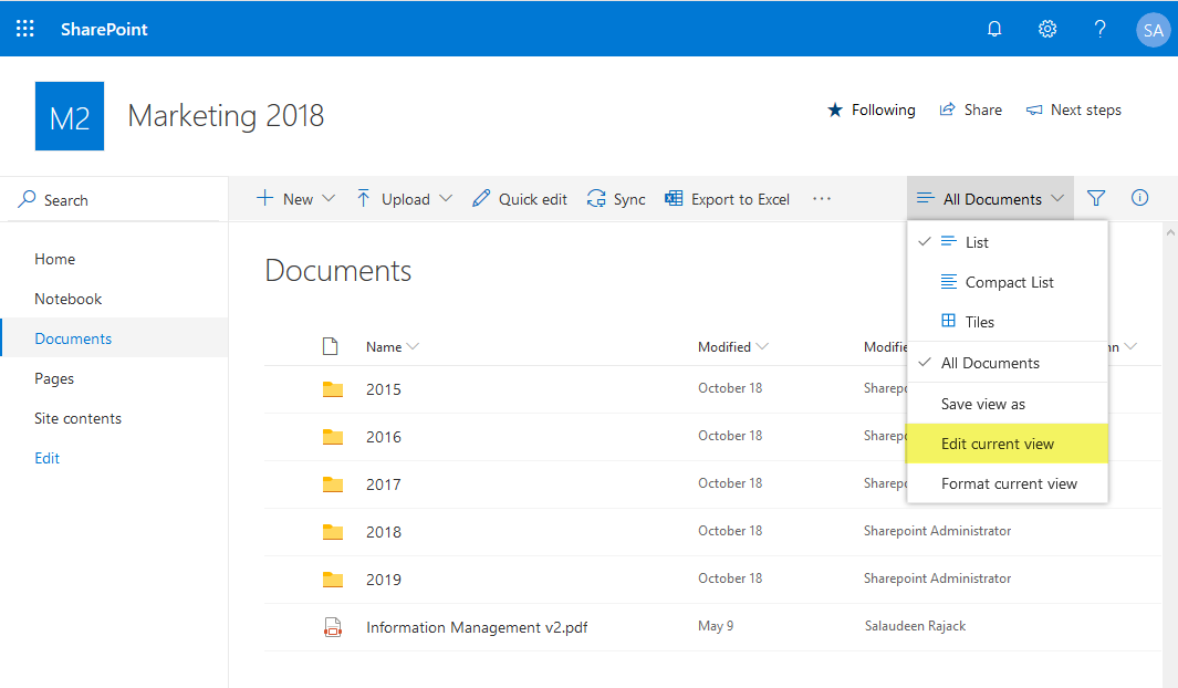 add document id column sharepoint online