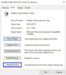 Mengatasi No Speakers or Headphones Are Plugged in Windows 10