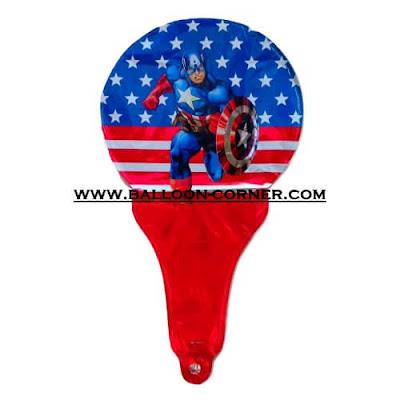 Balon Foil Raket Karakter / Balon Souvenir Ulang Tahun Karakter Captain America