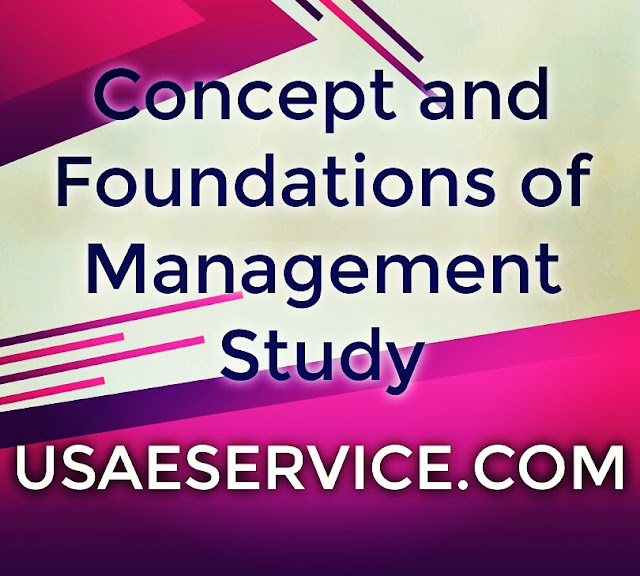 Concept and Foundations of Management Notes In OB