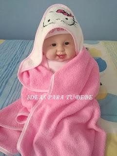 toalla de baño hello kitty