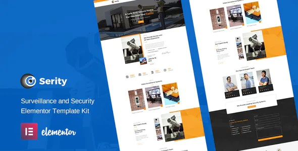 Best CCTV and Security Cameras Elementor Template Kit