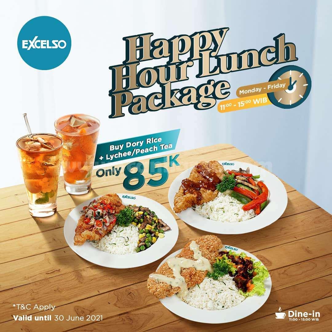 Promo Excelso Paket HAPPY HOUR harga hanya 85K
