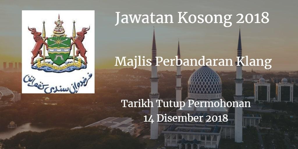 Jawatan Kosong MPK 14 Disember 2018