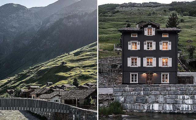 Brücke 49 un refugio en los Alpes Suizos chicanddeco