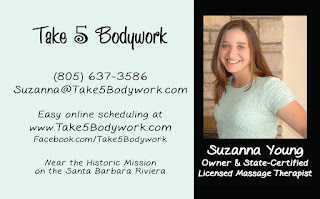 Take 5 Bodywork business card