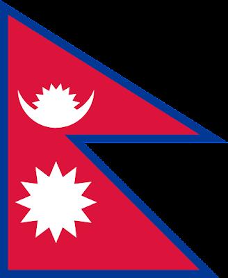 Logo Gambar Bendera Negara Nepal PNG JPG ukuran 400 px