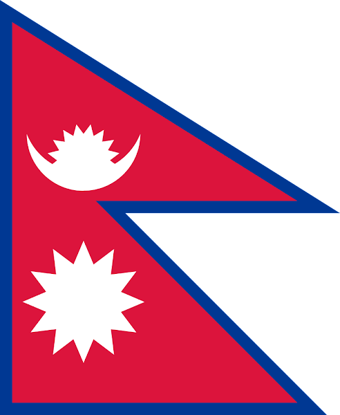 Logo Gambar Bendera Negara Nepal PNG JPG ukuran 600 px