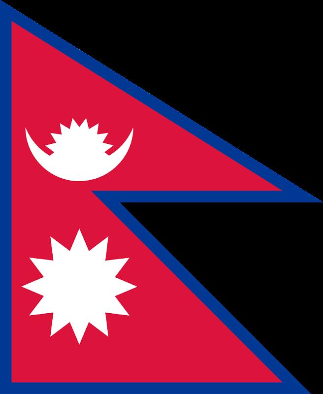 Logo Gambar Bendera Negara Nepal PNG JPG ukuran 800 px