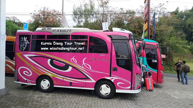 rental mini bus lokal dieng