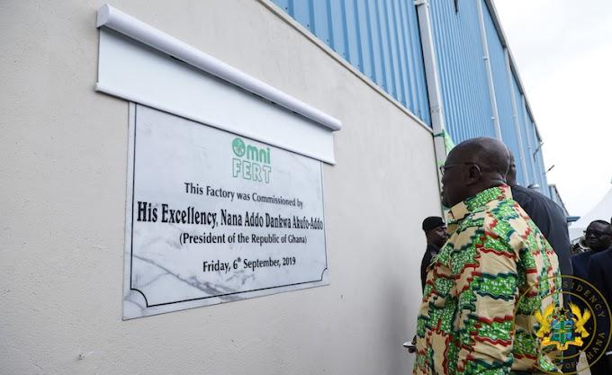 President Akufo-Addo Commissions OmniFERT Fertilizer Factory
