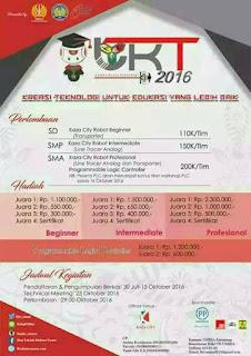 Lomba Karya Teknologi SD, SMP, dan SMA 2016