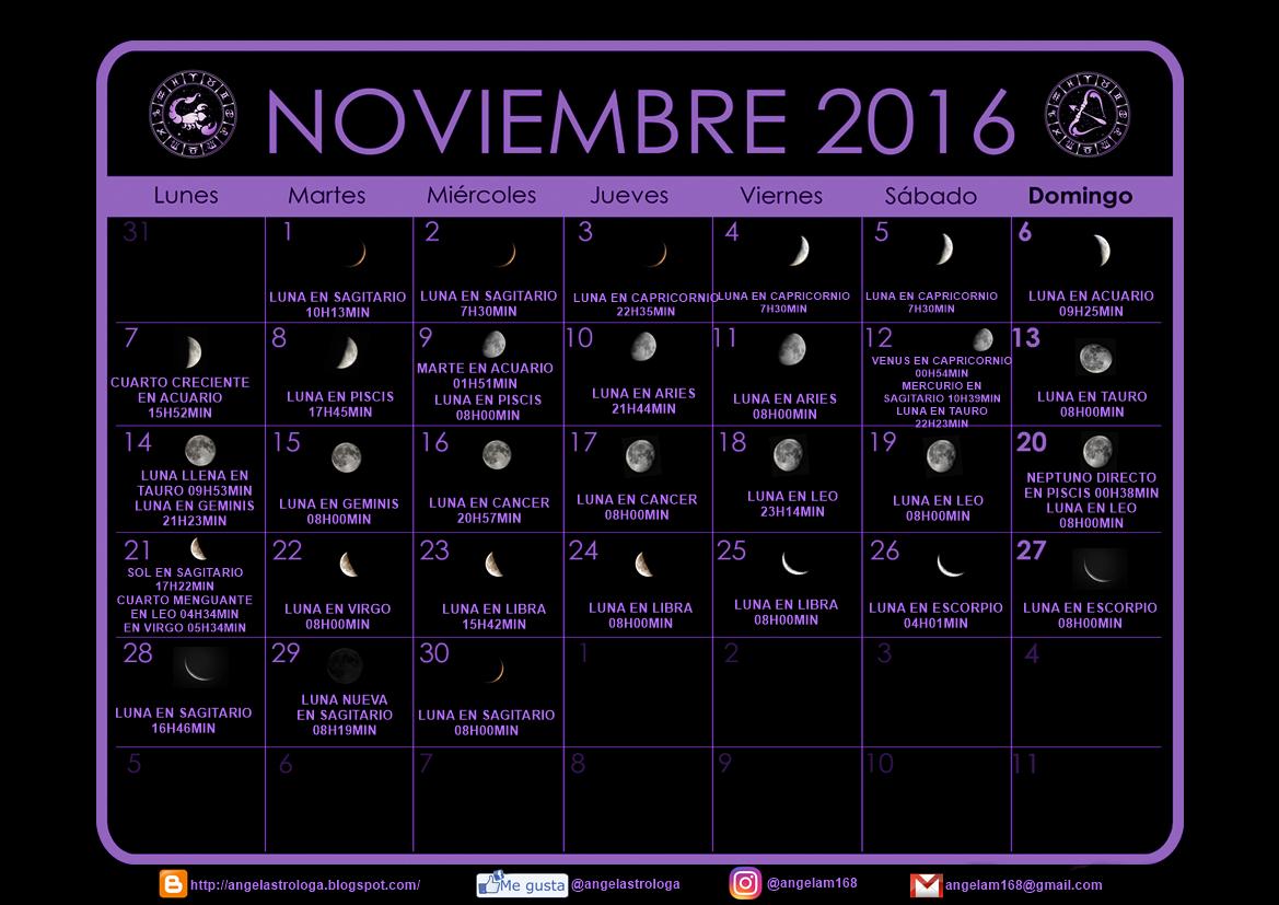 Witch 39 s coffee shop la cafeter a de las brujas for Calendario lunar noviembre 2016