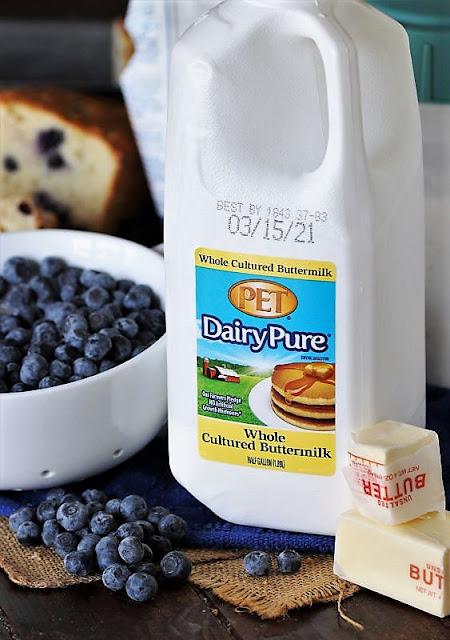 Buttermilk Blueberry Bread Ingredients Image