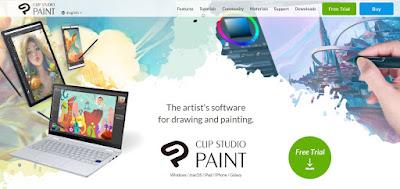 aplikasi untuk membuat webtoo clip studio paint