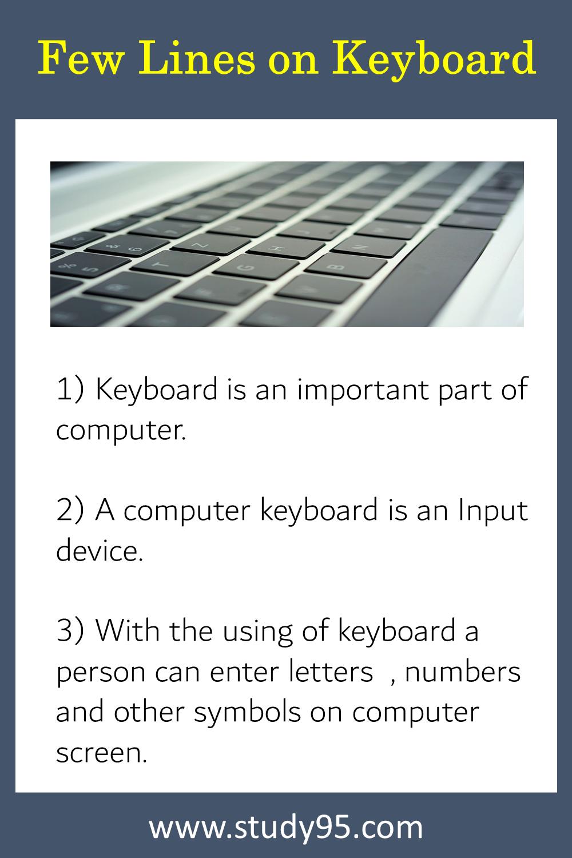 10 Lines on Keyboard