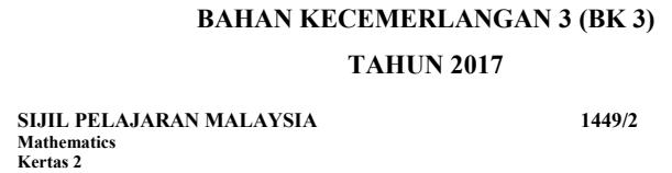 Koleksi soalan percubaan SPM Matematik 2017 Terengganu