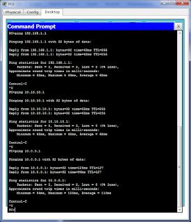 Проверка работы муршрутизации с PC0