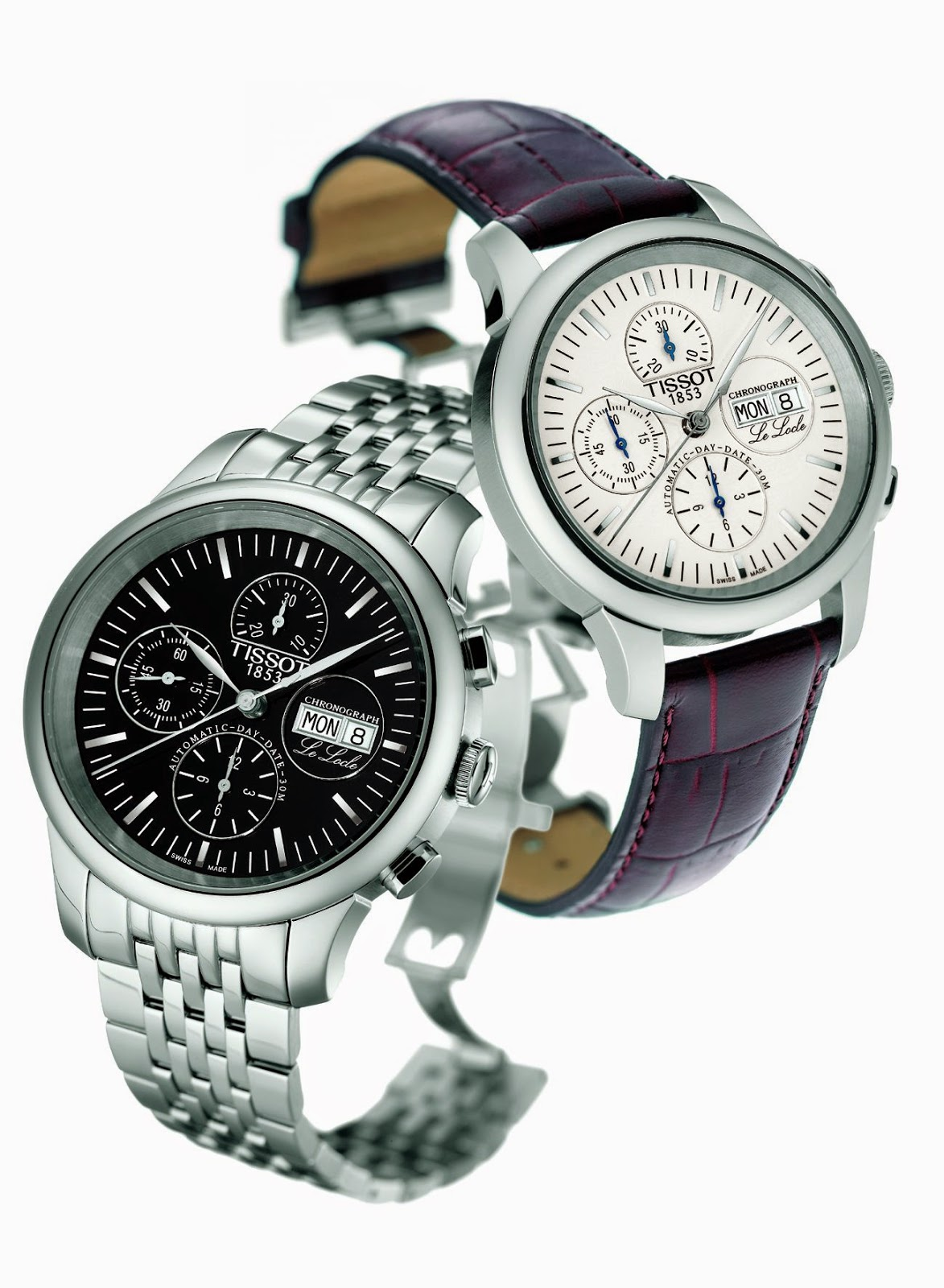 TISSOT Le Locle Luxury automatic chronograph watch