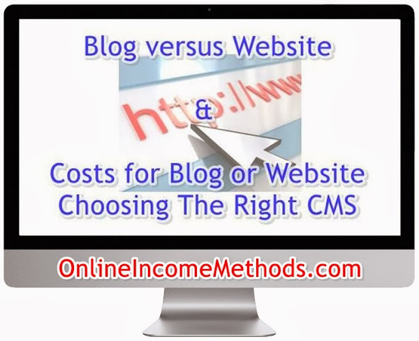 Blog vs Website and Costs Related to Run a Website