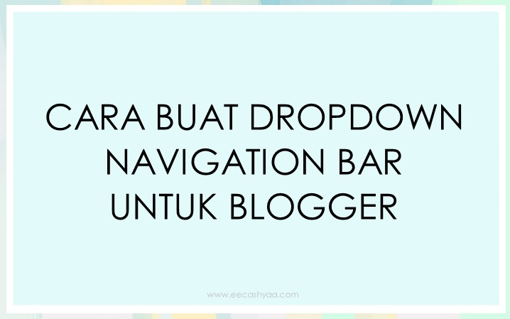 cara buat navigation bar, dropdown menu bar