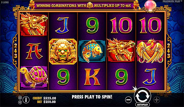 Main Gratis Slot Indonesia - 5 Lions (Pragmatic Play)