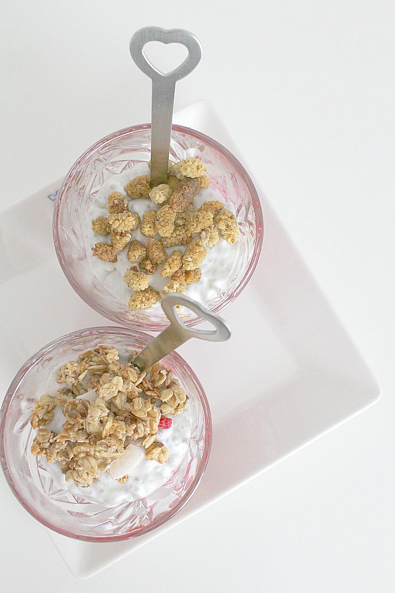 chia-kookosvanukas / Chia-coconut-pudding