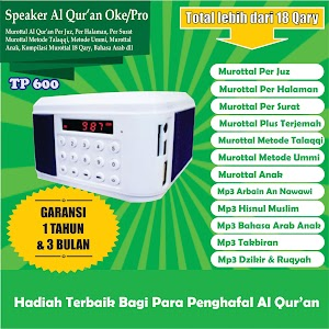 Speaker Al Qur'an Tp 600 8 Giga