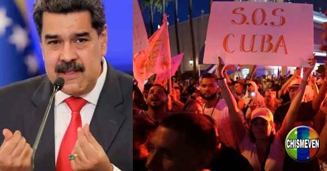 NORMALITO | Maduro apoya cualquier clase de represión contra el pueblo de Cuba