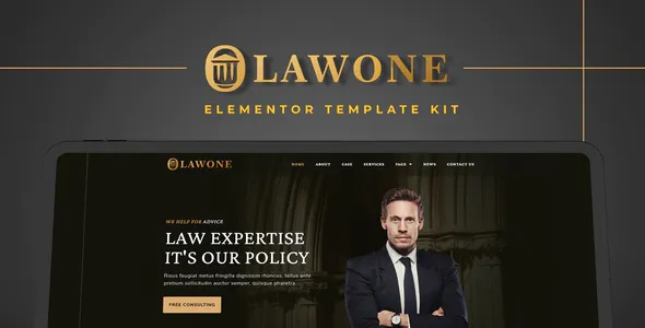 Best Legal & Law Firm Elementor Template Kit