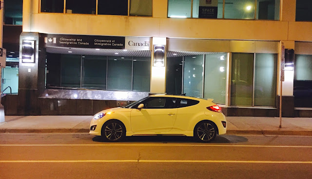 2016 Hyundai Veloster Turbo white profile