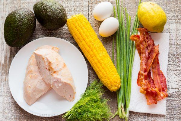 Bacon Avocado Chicken Salad with Lemon Vinaigrette #vegan #vegetarian #soup #breakfast #lunch