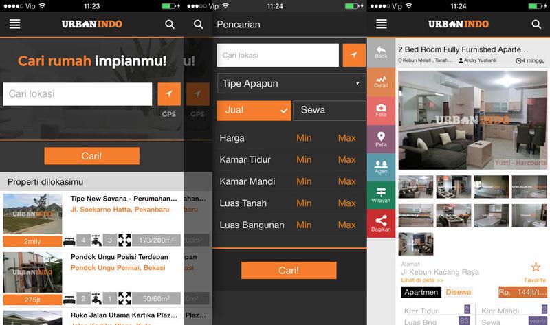 aplikasi cari rumah Android Urbanindo