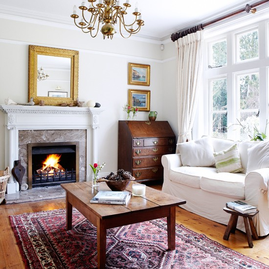 Cozy And Bright Living Room: Simple Details: Making White Look Cozy