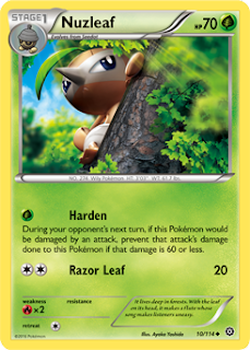 Nuzleaf Steam Siege Pokemon Card